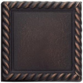 Weybridge 2 in. x 2 in. Cast Metal Rope Dot Dark Oil Rubbed Bronze Tile (10 pieces / case)-TILE470070003HD 203381213