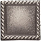 Weybridge 2in. x 2 in. Cast Metal Rope Dot Brushed Nickel Tile (10 pieces / case)-TILE470024001HD 203381212