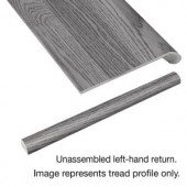 Cap A Tread Vintage Pewter Oak 94 in. Length x 12-1/8 in. Deep x 1-11/16 in. Height Laminate Left Return to Cover Stairs 1 in. Thick-016241816 206955327