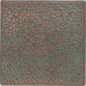 Daltile Castle Metals 4-1/4 in. x 4-1/4 in. Aged Copper Metal Insert B Accent Wall Tile-CM0144DECOB1P 202044727