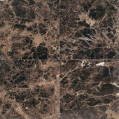 Daltile Natural Stone Collection Emperador Dark 12 in. x 12 in. Polished Marble Floor and Wall Tile (10 sq. ft. / case)-M72512121L 202646804