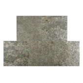 FastStone+ Silver Shine 12 in. x 12 in. Slate Peel and Stick Wall Tile (5 sq. ft. / pack)-70-046-04-01 207041389