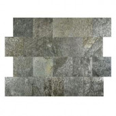 FastStone+ Silver Shine 6 in. x 6 in. Slate Peel and Stick Wall Tile (5 sq. ft. / pack)-70-046-02-01 207041367