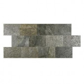FastStone+ Silver Shine 6 in. x 9 in. Slate Peel and Stick Wall Tile (4.5 sq. ft. / pack)-70-046-03-01 207041388