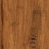 Home Legend Hand Scraped Distressed Strand Woven Hazelnut 3/8 in. x 5-1/8 in. x 36 in. Click Lock Bamboo Flooring (25.625 sqft/case)-HL261H 206458112