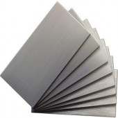 Instant Mosaic Peel and Stick Brushed Stainless Color 6 in. x 3 in. Metal Wall Tile (8-Pack)-EKB-03-101 204312769