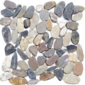 Islander Sienna Mosaic 12 in. x 12 in. Sliced Natural Pebble Stone Floor and Wall Tile (10 sq. ft. / case)-20-1-005 205604003