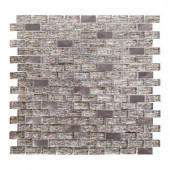 Jeffrey Court Prezzano 12 in. x 12 in. x 8 mm Glass Mosaic Tile-99325 205952808