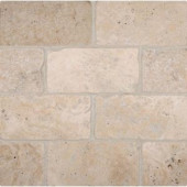 MS International Bologna Chiaro 3 in. x 6 in. Tumbled Travertine Floor and Wall Tile (1 sq. ft. / case)-THDW3-T-CH3X6T 100664325