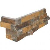 MS International California Gold Ledger Corner 6 in. x 24 in. Natural Slate Wall Tile (4 sq. ft. / case)-LPNLSCALGLD624C 202518676