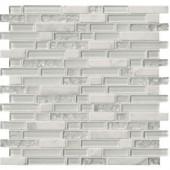 MS International Delano Blanco 12 in. x 12 in. x 6 mm Glass Stone Mesh-Mounted Mosaic Tile (15 sq. ft. / case)-SGLS-DELBLA6MM 205891732
