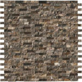 MS International Emperador Splitface 12 in. x 12 in. x 10 mm Marble Mesh-Mounted Mosaic Tile-EMP-SFIL10MM 202814269