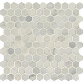 MS International Greecian White Hexagon 12 in. x 12 in. x 10 mm Polished Marble Mesh-Mounted Mosaic Tile-GRE-1HEXP 204265384