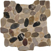 MS International Mix River Rock 12 in. x 12 in. x 10 mm Tumbled Marble Mesh-Mounted Mosaic Tile (10 sq. ft. / case)-PEB-MIXRVR 205861484
