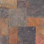 MS International Peacock Pattern Gauged Slate Floor and Wall Tile (16 sq. ft. / case)-SMCLAS-ASH-3-G 203620849