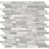 MS International White Quarry Splitface 12 in. x 12 in. x 10 mm Marble Mesh-Mounted Mosaic Tile-WQ-SFIL10MM 204265379