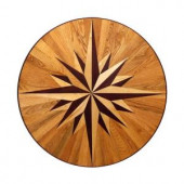 PID Floors 3/4 in. Thick x 24 in. Wide Circular Medallion Unfinished Decorative Wood Floor Inlay MC011-MC0110 203424571