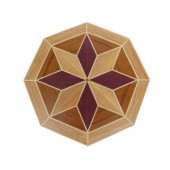 PID Floors 3/4 in. Thick x 24 in. Wide Octagon Medallion Unfinished Decorative Wood Floor Inlay MT010-MT0100 203424565