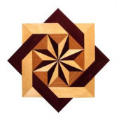 PID Floors 3/4 in. Thick x 24 in. Wide Star Medallion Unfinished Decorative Wood Floor Inlay MS002-MS0020 203424567