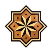 PID Floors 3/4 in. Thick x 36 in. Wide Star Medallion Unfinished Decorative Wood Floor Inlay MS003-MS0031 203424578