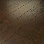 Shaw Western Hickory Saddle 3/8 in. T x 5 in. W x Random Length Click Engineered Hardwood Flooring (29.49 sq. ft. / case)-DH84000941 206523969
