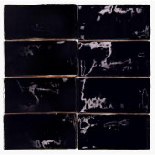 Splashback Tile Catalina Black 3 in. x 6 in. x 8 mm Ceramic and Wall Subway Tile-CATALINA3X6BLACK 206496901
