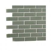 Splashback Tile Contempo Seafoam Brick Glass Tile - 3 in. x 6 in. x 8 mm Tile Sample-L6A7 GLASS TILE 203288386