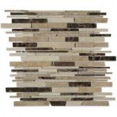 Splashback Tile Kansas Emporia 12 in. x 12 in. x 10 mm Polished Marble Mosaic Tile-HD-EMPRIA 206641660