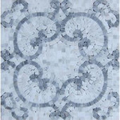 Splashback Tile Marquess Carrera Polished Marble Floor and Wall Tile - 3 in. x 6 in. Tile Sample-L5B6HD-MQSCARA 206641669