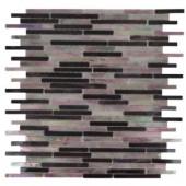 Splashback Tile Matchstix Stir Crazy 10 in. x 11 in. x 8 mm Glass Mosaic Floor and Wall Tile-MATCHSTIX STIR CRAZY GLASS TILE 204279046