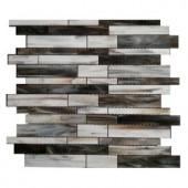 Splashback Tile Matchstix Torrent 10 in. x 11 in. x 8 mm Glass Mosaic Floor and Wall Tile-MATCHSTIX TORRENT GLASS TILE 204279050