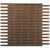 Splashback Tile Metal Copper Brick 12 in. x 12 in. x 8 mm Stainless Steel Floor and Wall Tile-METAL COPPER STAINLESS STEEL 1/2X4 BRICK 203478202