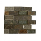 Splashback Tile Roman Selection Emperial Slate 3 in. x 6 in. x 8 mm Mixed Materials Floor and Wall Tile Sample-R4B3 BACKSPLASH TILE 204278970
