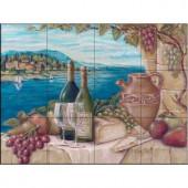 The Tile Mural Store Bella Vista 24 in. x 18 in. Ceramic Mural Wall Tile-15-1689-2418-6C 205842797