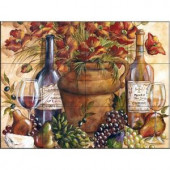 The Tile Mural Store Papaveri Rossi Complete 24 in. x 18 in. Ceramic Mural Wall Tile-15-741-2418-6C 205842709