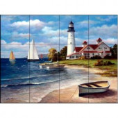 The Tile Mural Store Sailing the Safe Harbor 17 in. x 12-3/4 in. Ceramic Mural Wall Tile-15-853-1712-6C 205842730