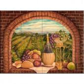 The Tile Mural Store Tuscan Wine II 24 in. x 18 in. Ceramic Mural Wall Tile-15-1691-2418-6C 205842819