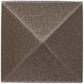 Weybridge 2 in. x 2 in. Cast Metal Pyramid Dot Brushed Nickel Tile (10 pieces / case)-TILE471024001HD 203381215