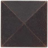 Weybridge 2 in. x 2 in. Cast Metal Pyramid Dot Dark Oil Rubbed Bronze Tile (10 pieces / case)-TILE471070003HD 203381216