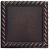 Weybridge 2 in. x 2 in. Cast Metal Rope Dot Dark Oil Rubbed Bronze Tile (10 pieces / case)-TILE470070003HD 203381213