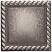 Weybridge 2in. x 2 in. Cast Metal Rope Dot Brushed Nickel Tile (10 pieces / case)-TILE470024001HD 203381212